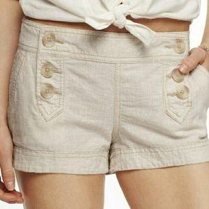 Express Sailor Linen-Blend Khaki Shorts
